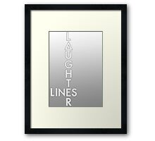 Bastille - Laughter Lines #2 Framed Print