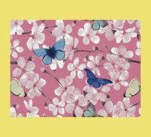 Butterflies and blossom Baby Tee