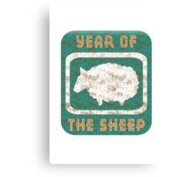 Year of The Sheep Goat Ram Canvas Print