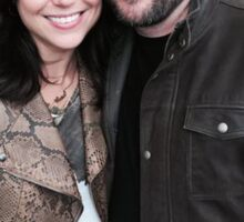 Lana Parrilla and Mark Sheppard with halos Sticker