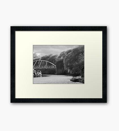 Cambridge River Bridge Phone Case Framed Print