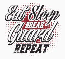 Eat sleep break guard repeat Baby Tee