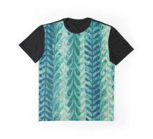 Vine Pattern - Blue Graphic T-Shirt