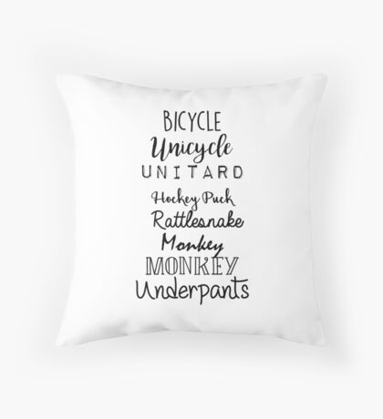 Gilmore Girls - Bicycle Unicycle Throw Pillow