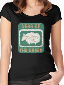 Year of The Sheep Goat Ram Women's Fitted Scoop T-Shirt