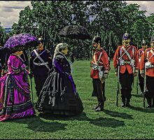 Queen Victoria inspects her troops by Tim Constable