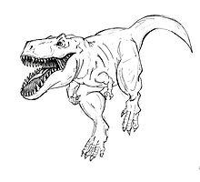 Terrifying T-Rex  by BURNING-BRIGHT