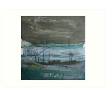 grey landscape Art Print