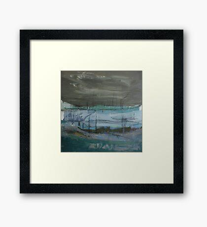 grey landscape Framed Print