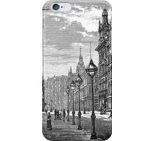 Montgomery St., W/ The Palace Hotel iPhone Case/Skin
