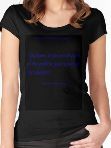 Roleplay Quotes - problems and solutions Women's Fitted Scoop T-Shirt