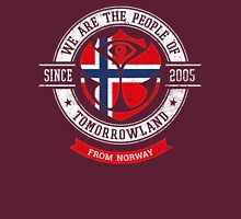 People of Tomorrowland Flags logo Badge - Norway - Norge - norwegian - norse Unisex T-Shirt