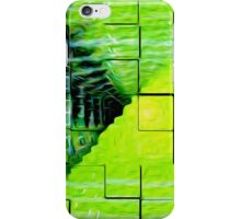 Blocks Over Zoom to Green iPhone Case/Skin