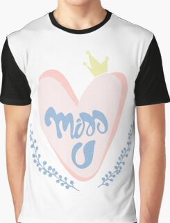 Romantic cute print with handwritten lettering Graphic T-Shirt