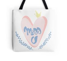 Romantic cute print with handwritten lettering Tote Bag