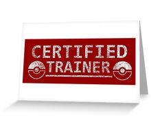 Certified Pokemon Trainer Greeting Card