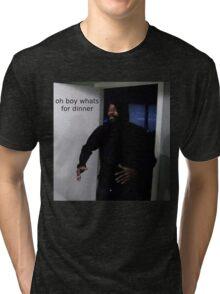 "MC ride walking into a door saying ""oh boy whats for di Tri-blend T-Shirt"