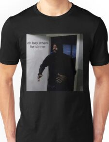 "MC ride walking into a door saying ""oh boy whats for di Unisex T-Shirt"