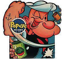 Popeye Record Photographic Print