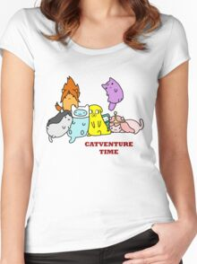 Catventure Time Women's Fitted Scoop T-Shirt
