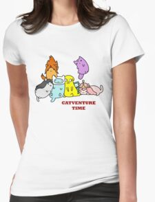Catventure Time Womens Fitted T-Shirt