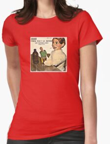 Vintage Record Smoking Puppet Womens Fitted T-Shirt