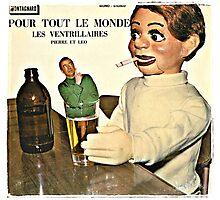Vintage Record Smoking Puppet Photographic Print