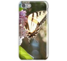 Yellow Tiger Swallowtail Butterfly on Lilac Flowers iPhone Case/Skin