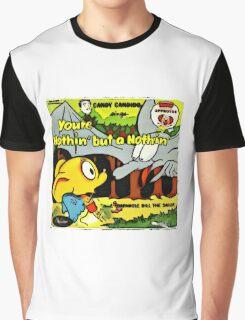 Vintage Record Cartoon Graphic T-Shirt