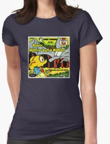 Vintage Record Cartoon Womens Fitted T-Shirt