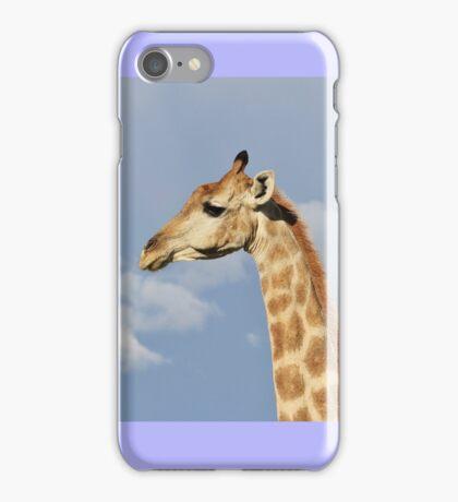 Giraffe - Beautiful Blue - African Wildlife Background  iPhone Case/Skin