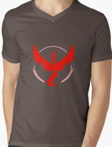 Pokemon GO Red Team Valor Mens V-Neck T-Shirt