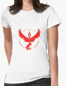 Pokemon GO Red Team Valor Womens Fitted T-Shirt