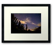 Rocky Mountain Falling Star Framed Print