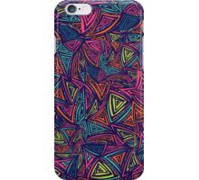 Ethnic pattern with abstract triangles iPhone Case/Skin