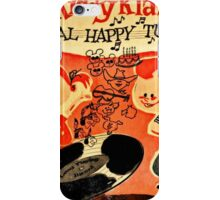 Vintage Cartoon Record iPhone Case/Skin