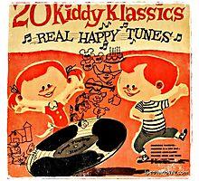 Vintage Cartoon Record Photographic Print