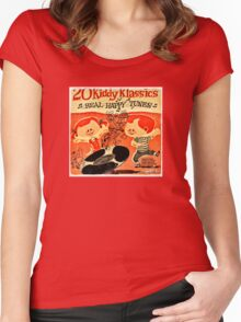 Vintage Cartoon Record Women's Fitted Scoop T-Shirt