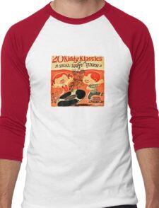 Vintage Cartoon Record Men's Baseball ¾ T-Shirt