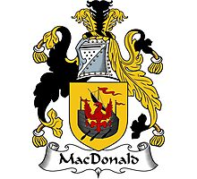 MacDonald Coat of Arms / MacDonald Family Crest Photographic Print