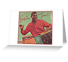 Beating Time Vintage Record Greeting Card