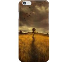 Lonely house on the hill iPhone Case/Skin