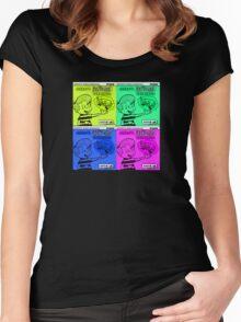 Vintage Cartoon Women's Fitted Scoop T-Shirt