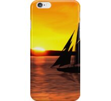 Sunset Boating iPhone Case/Skin