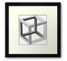Cube - Perspective Game Framed Print