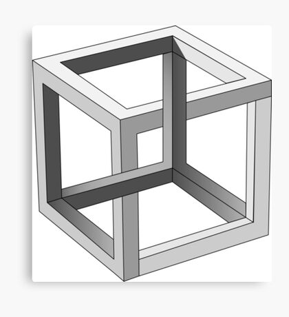Cube - Perspective Game Canvas Print