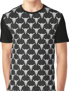 Horned bull skulls Graphic T-Shirt