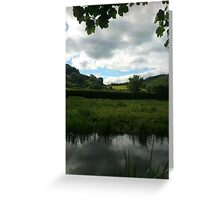 Water Earth Sky - Walk Along The Canal 2 Greeting Card
