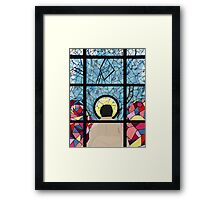 Stained Glass Castiel Framed Print