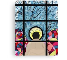 Stained Glass Castiel Canvas Print